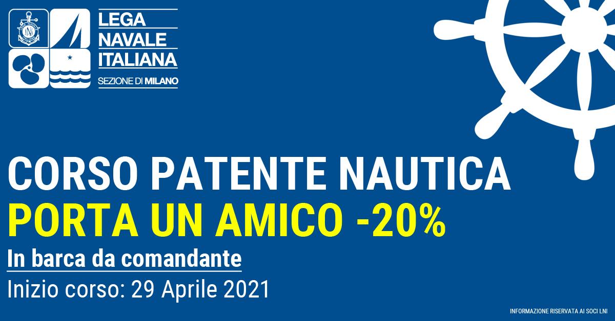 CORSO PATENTE NAUTICA - PROMO PORTA UN AMICO -20%